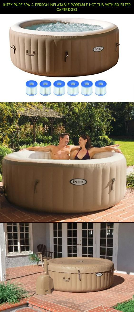 Intex Pure Spa 4-Person Inflatable Portable Hot Tub with Six Filter ...