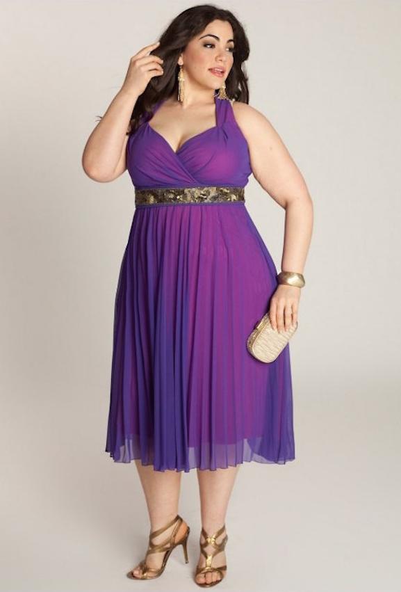 Vestidos cortos de noche para personas con sobrepeso | Pinterest ...