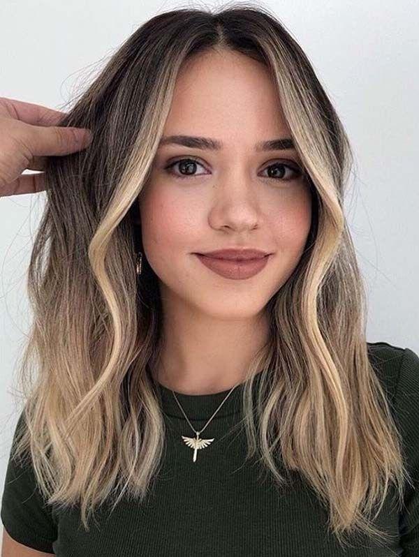 Erstaunliche mittellange Balayage-Haarschnitte für 2019