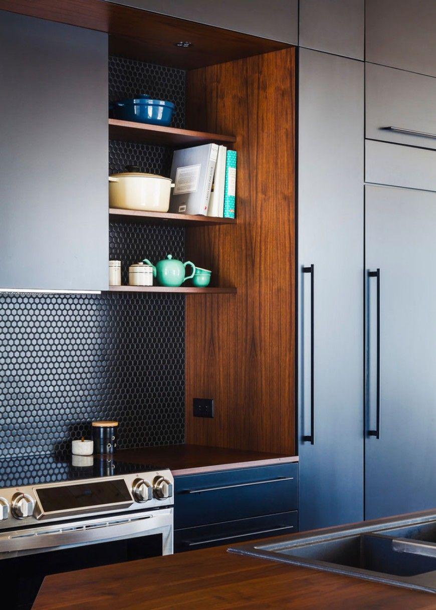 Finden Sie diese zeitgenössischen Küchen mit geometrischen Fliesen ...