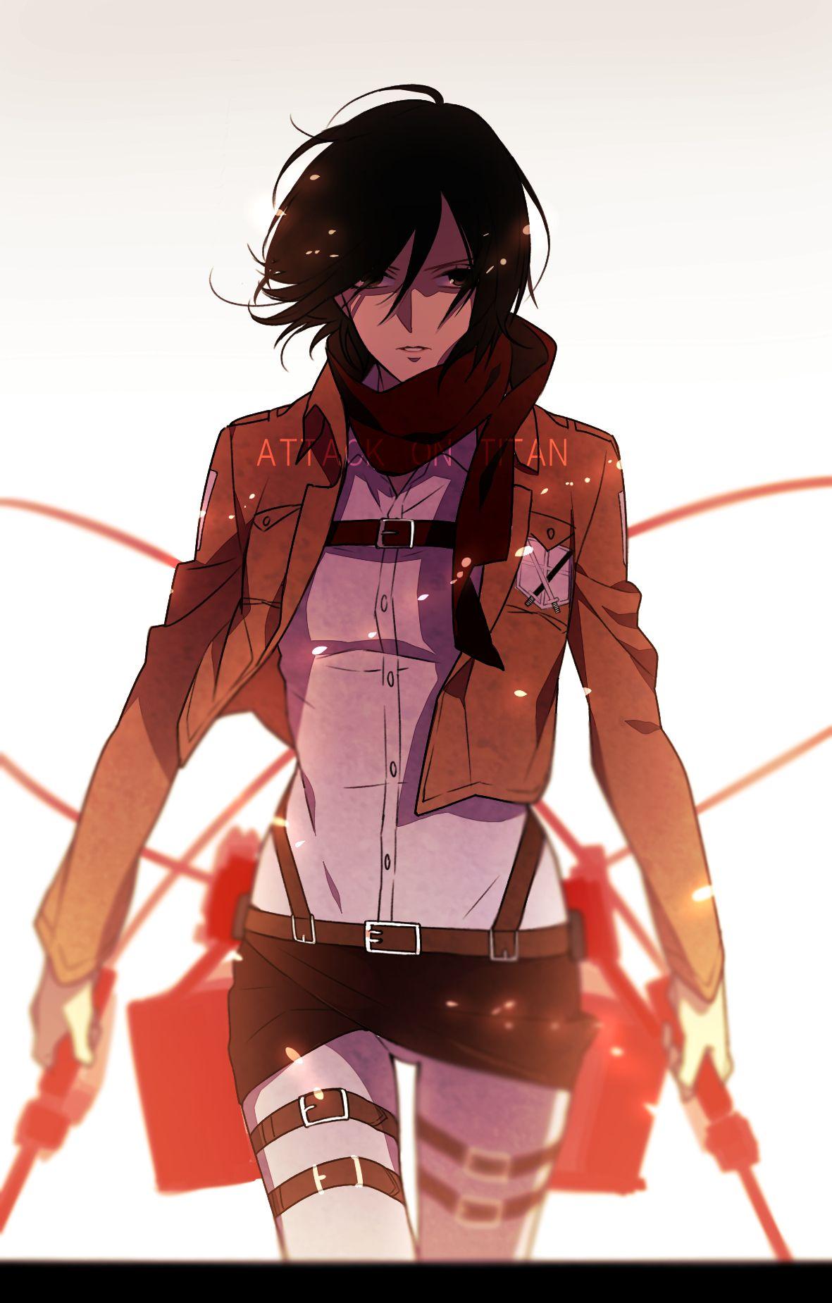 Shingeki no Kyojin, Mikasa Ackerman   Shingeki no Kyojin (Attack On ...