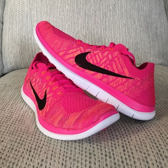 innovative design 905b0 0b6c3 Nike Free 4.0 Flyknit New Nike Free 4.0 Flyknit in pink orange purple black.  NEW in half box with label- I m listing two sizes 9.5, 10 Nike Shoes  Athletic ...