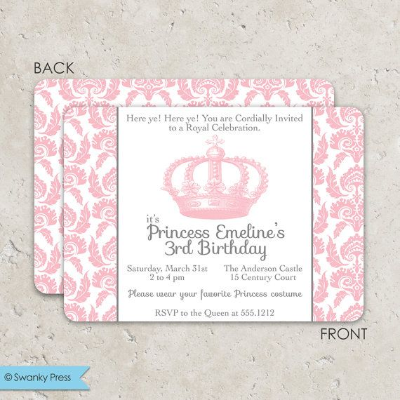 princess dress up party birthday invitation idea | parties, Party invitations