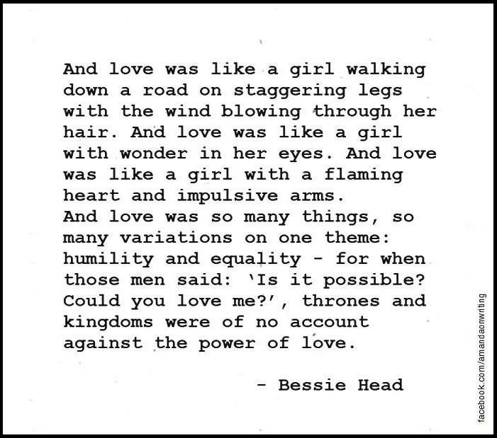 life by bessie head
