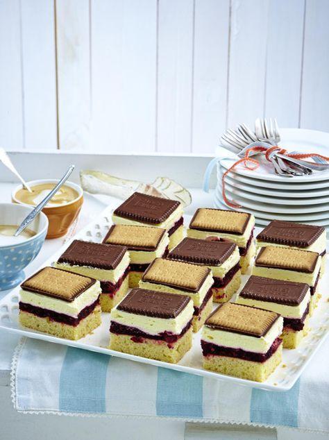 Schachbrett Butterkeks Kuchen Mit Roter Grutze Rezept Schones
