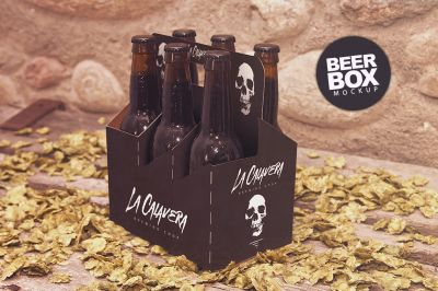 Download 6 Pack Beer Box Mockup PSD Mockup Template in 2020 | Free ...
