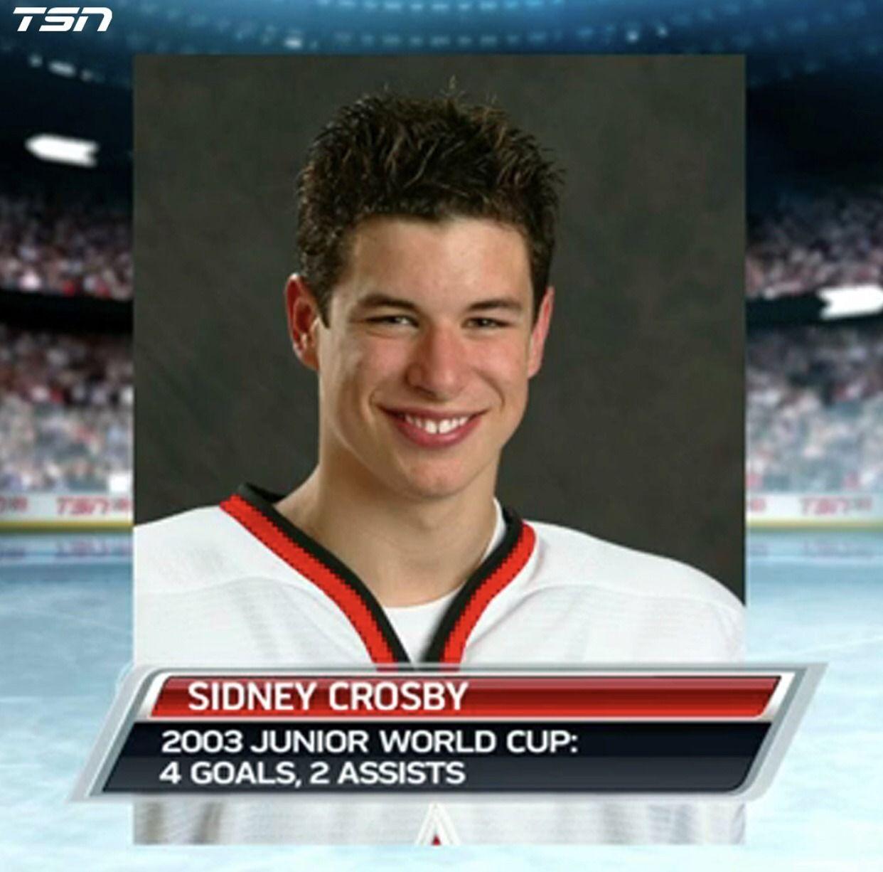 16 Year Old Sid Sidney Crosby 87 Hockey World Cup Ice Hockey
