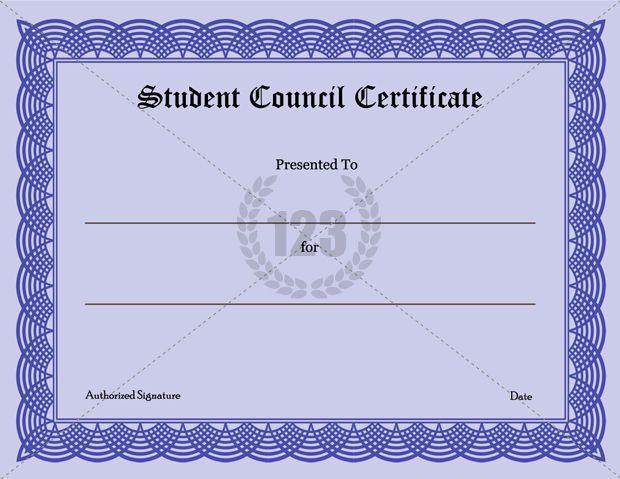Precious Student Council Certificate Download123Certificate – Student Certificate Template
