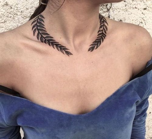 82 Most Awesome Neck Tattoos For Women In 2019 Page 27 Of 82 Necklace Tattoo Tattoos Neck Tattoo