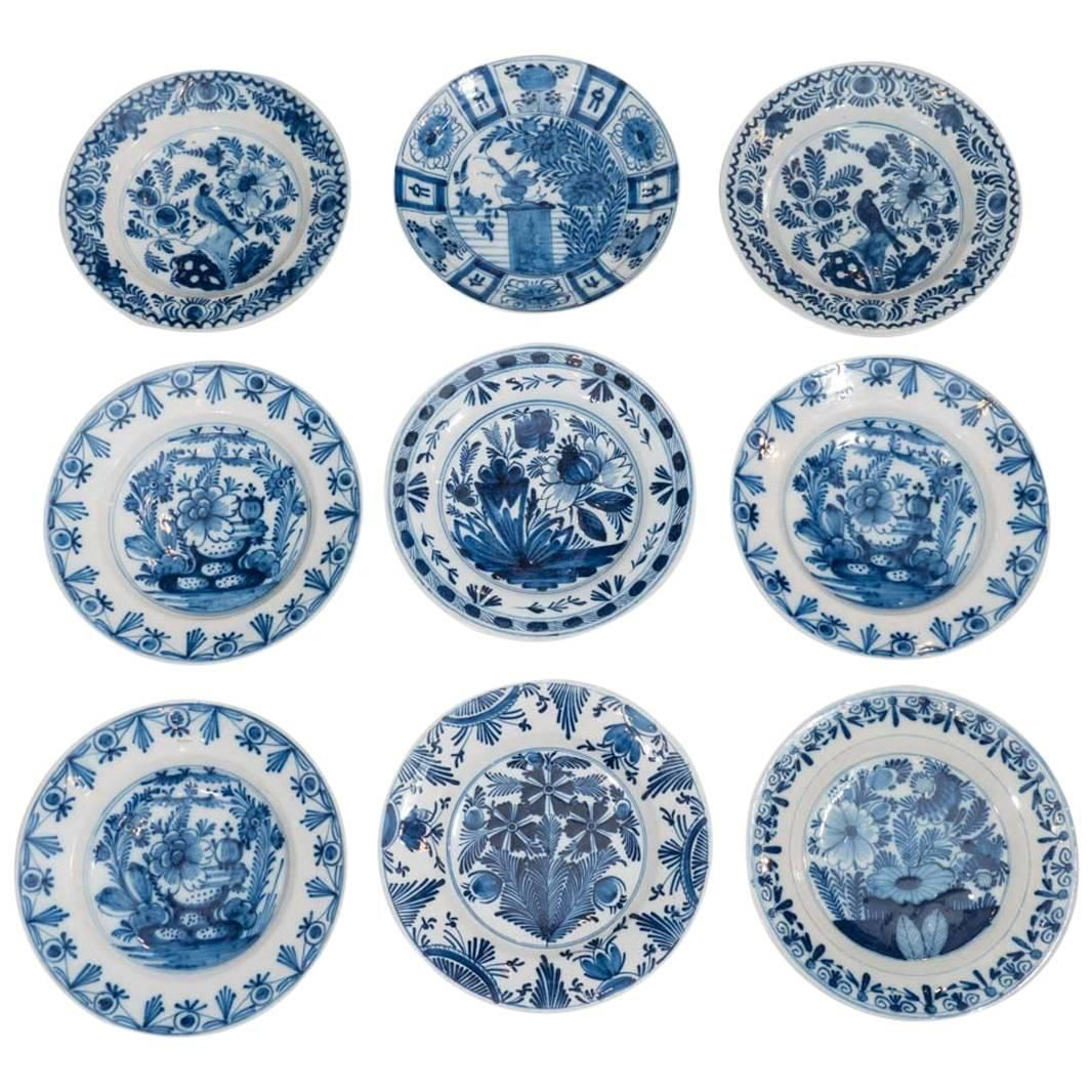 Part Of Our Collection Of Blue And White Dutch Delft Dishes And Chargers 1stdibs Com Delft Blue And White Modern Dinner Plates