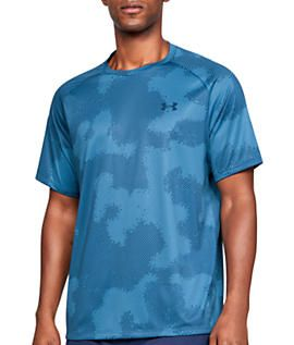 UA Gym Sports Training Tee Top Under Armour Mens Tech 2.0 Printed Camo T-Shirt