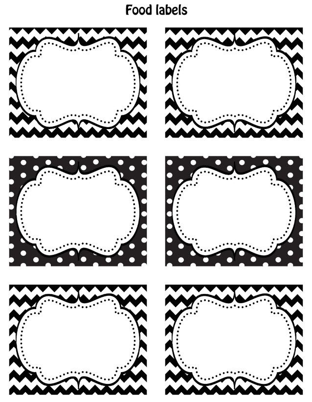 free black white printable labels home pinterest printable