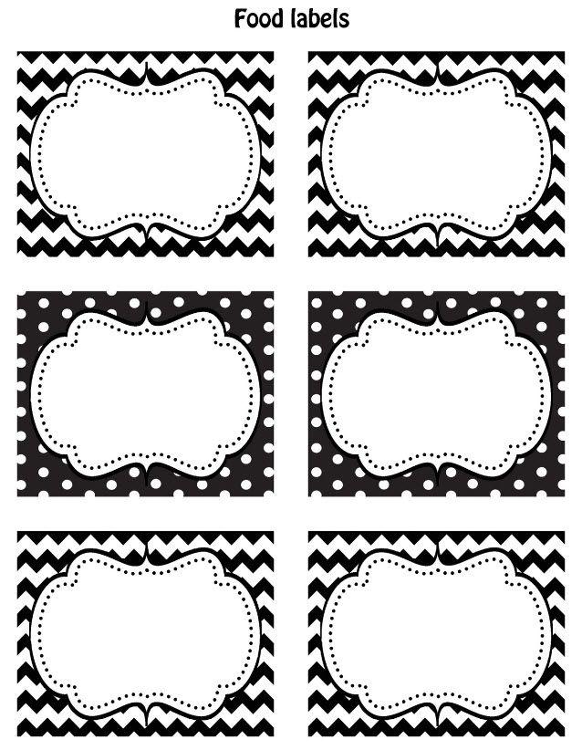 FREE Black & White Printable Labels   Printable labels, Free black ...
