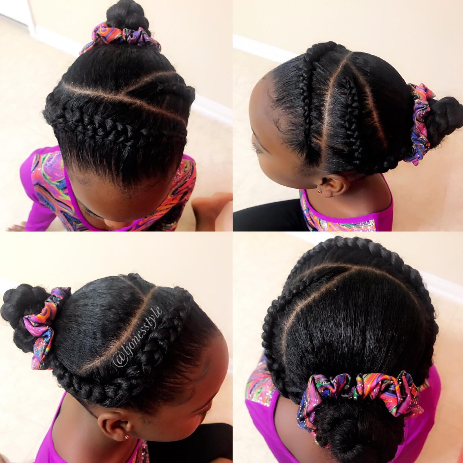 Black Girls Gymnastics Hair Blackgirlsrock Naturalhairstyles Gymnast Gymnasticshair Ljonesstyle Gymnastics Hair Kids Braided Hairstyles Competition Hair