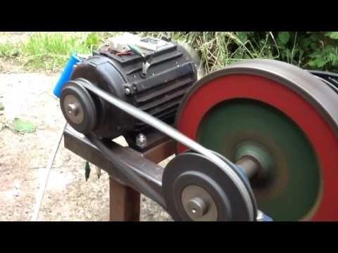 3000 Watt Generator Powers Itself Grinder Drill Press