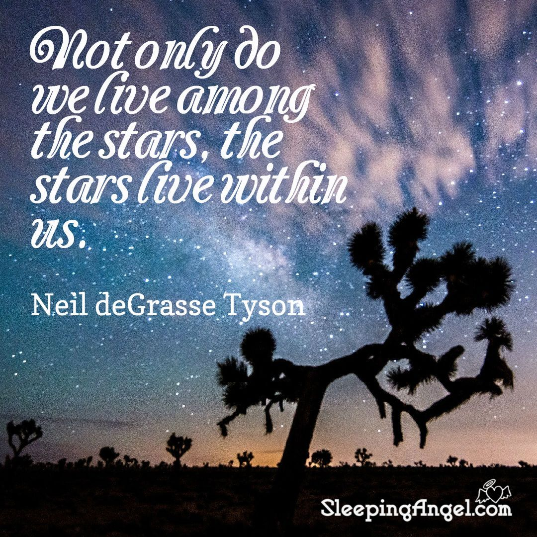 Not Only Do We Live Among The Stars The Stars Live Within Us Neil Degrasse Tyson Sleepingangel Com Neil Degrasse Tyson Angel Quotes Quotes