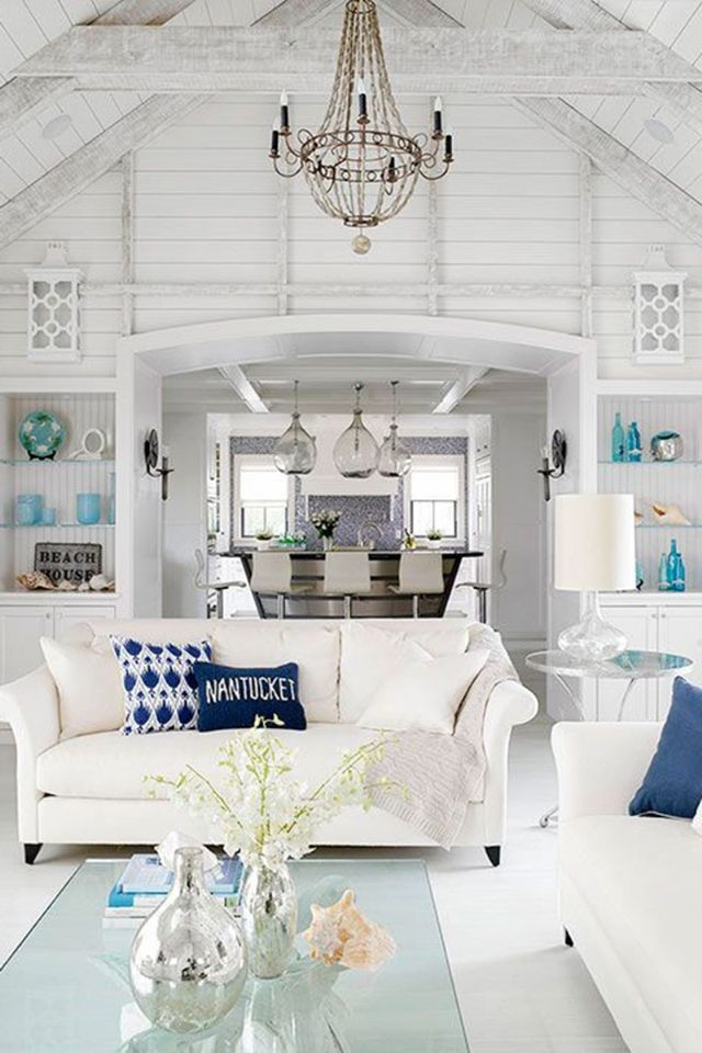 Coastal living room color ideas from better homes and gardens also beach house decor interior design for home rh pinterest