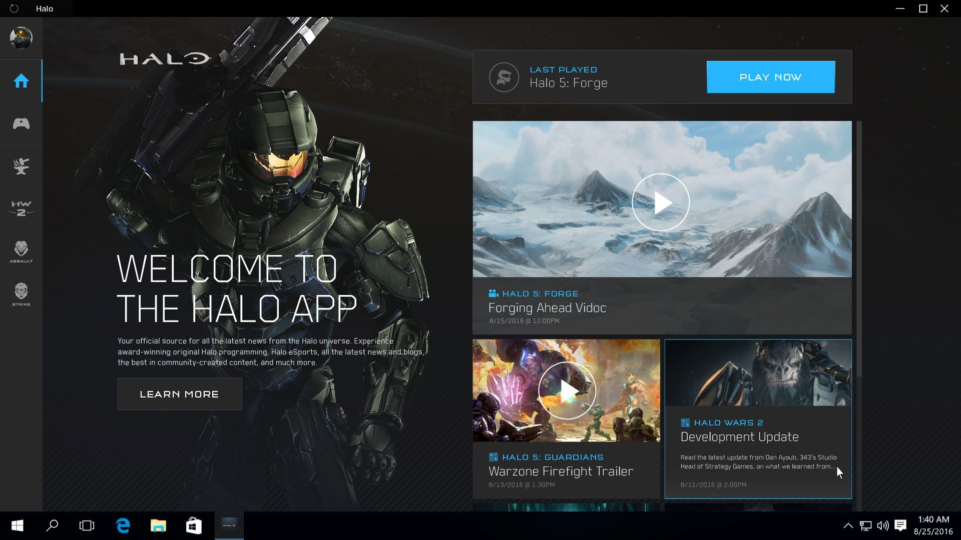 Microsoft Details Halo App for Windows 10 App, Halo game
