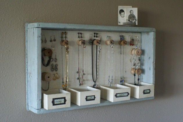 36 Awesome Ideas of DIY Wall Jewelry Organizers Diy wall Walls