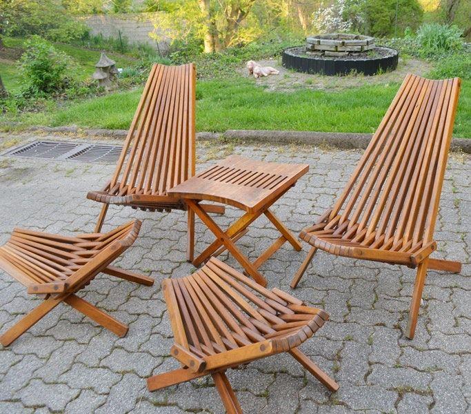 retro kentucky stick chairs footstools