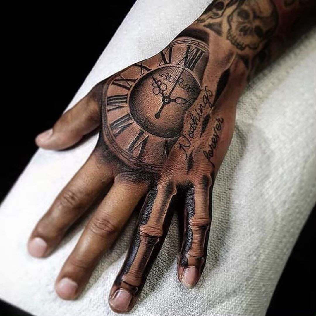 Tattoo Man Styles On Instagram Artist Tattoosbycris Follow Tattoomanstyles Hand Tattoos For Guys Bone Hand Tattoo Hand Tattoos