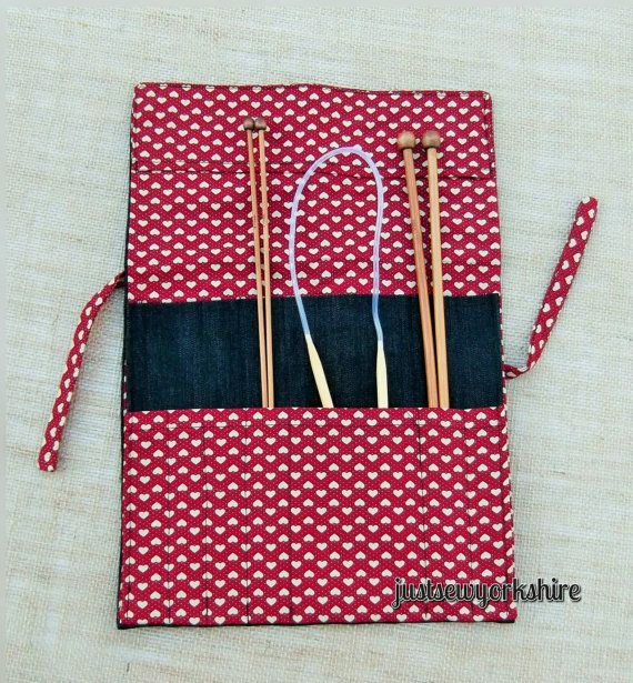 Handmade Fabric Knitting Needle Roll Case By Justsewyorkshire Easy