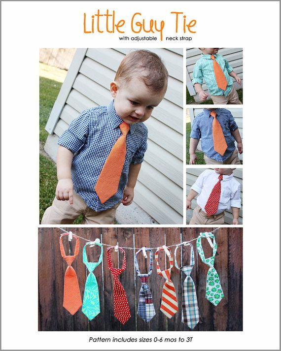 LITTLE GUY TIE  pdf sewing pattern by makeitandloveit on Etsy, $6.95