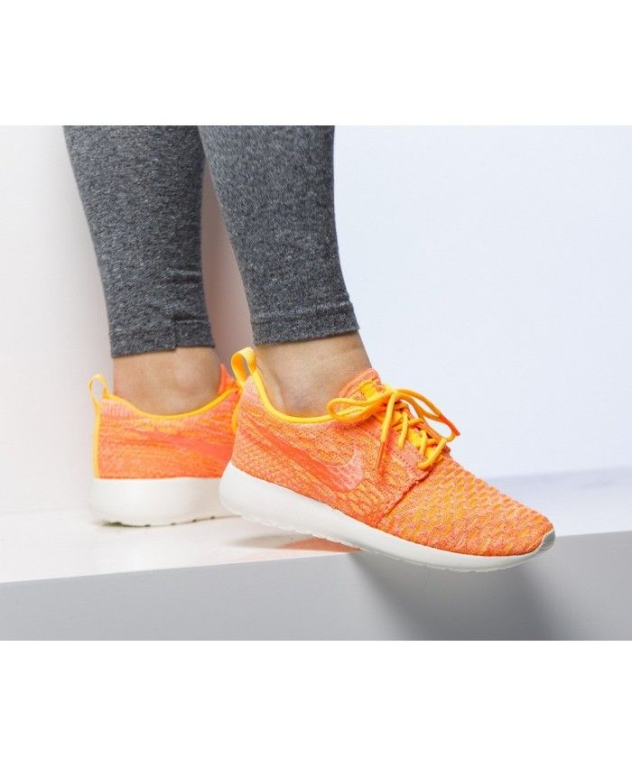 finest selection 58205 e639d Nike Roshe Run Roshe One Flyknit Orange Femme