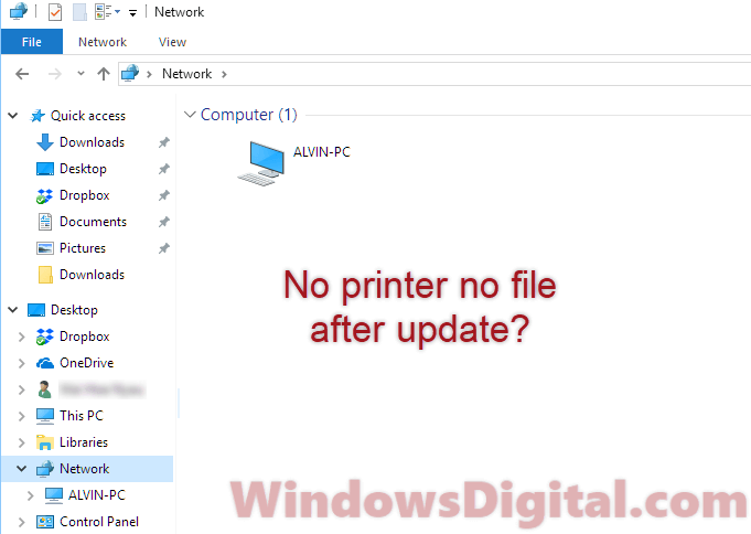 homegroup removed from windows 10 1803