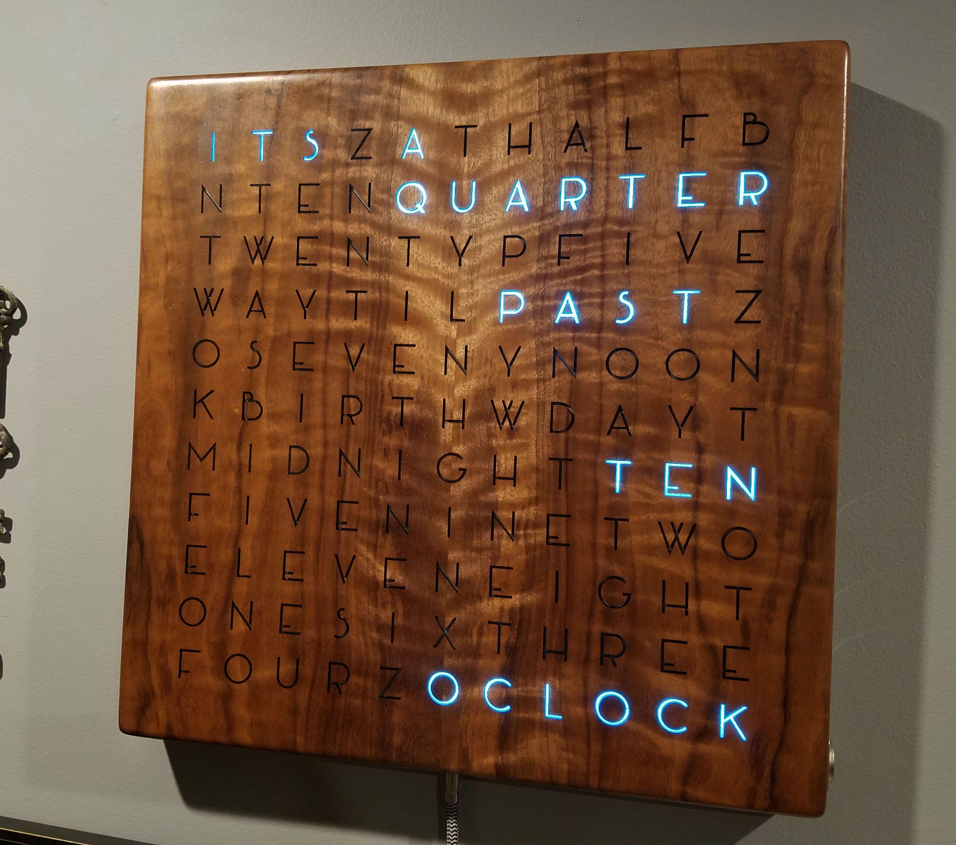 Wordclock Diy Wooden Words Arduino Clock