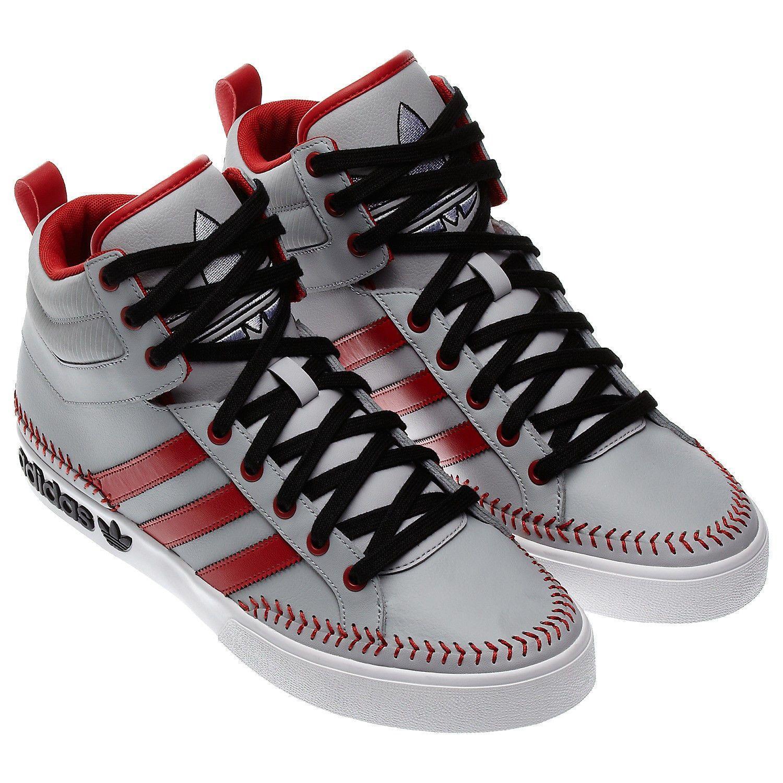 the latest da9f7 0a825 54.99 USD  Adidas Originals Top Court Hi Top Shoes Size 10.5 Q32537  Baseball Print Sneaker