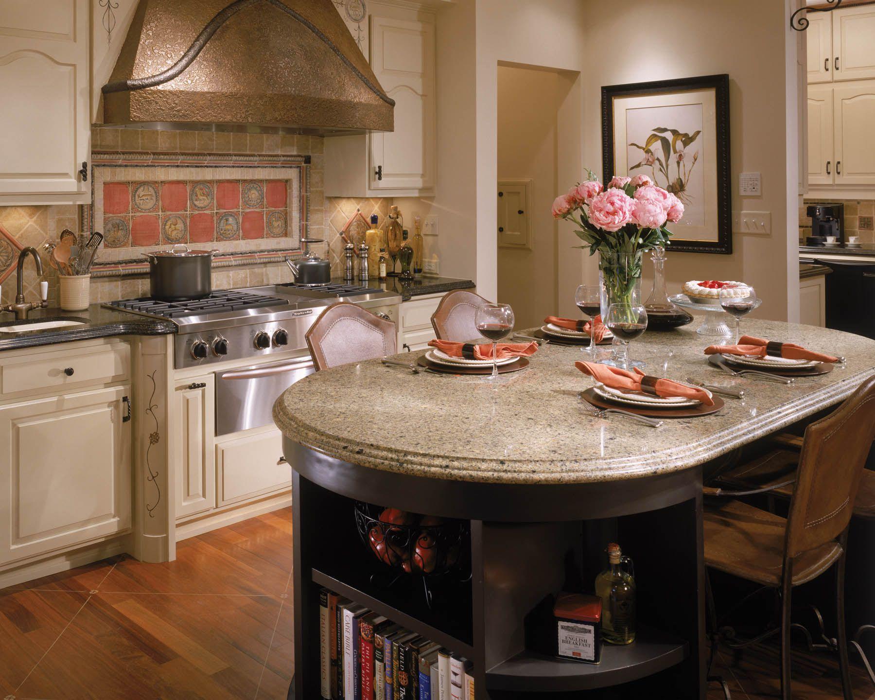 Kitchen Island Used As Dining Table kitchen island countertop ideas | round kitchen island | pinterest