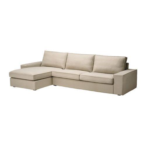 KIVIK Sofa And Chaise Lounge, Dansbo Beige -- Alternative