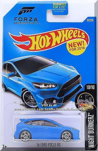 Hot Wheels 16 Ford Focus Rs Night Burnerz 10 10 90 250 2016 Blue Ford Focus Ford Focus Rs Hot Wheels