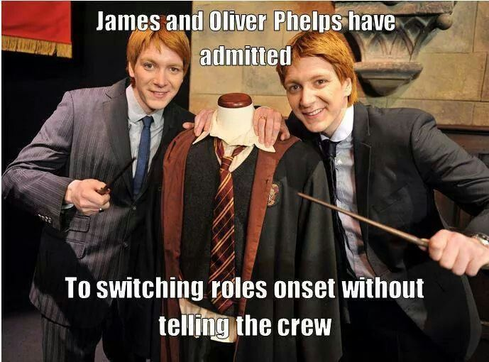 Pin By Clairish On Hogwarts Fred And George Weasley Harry Potter Jokes George Weasley
