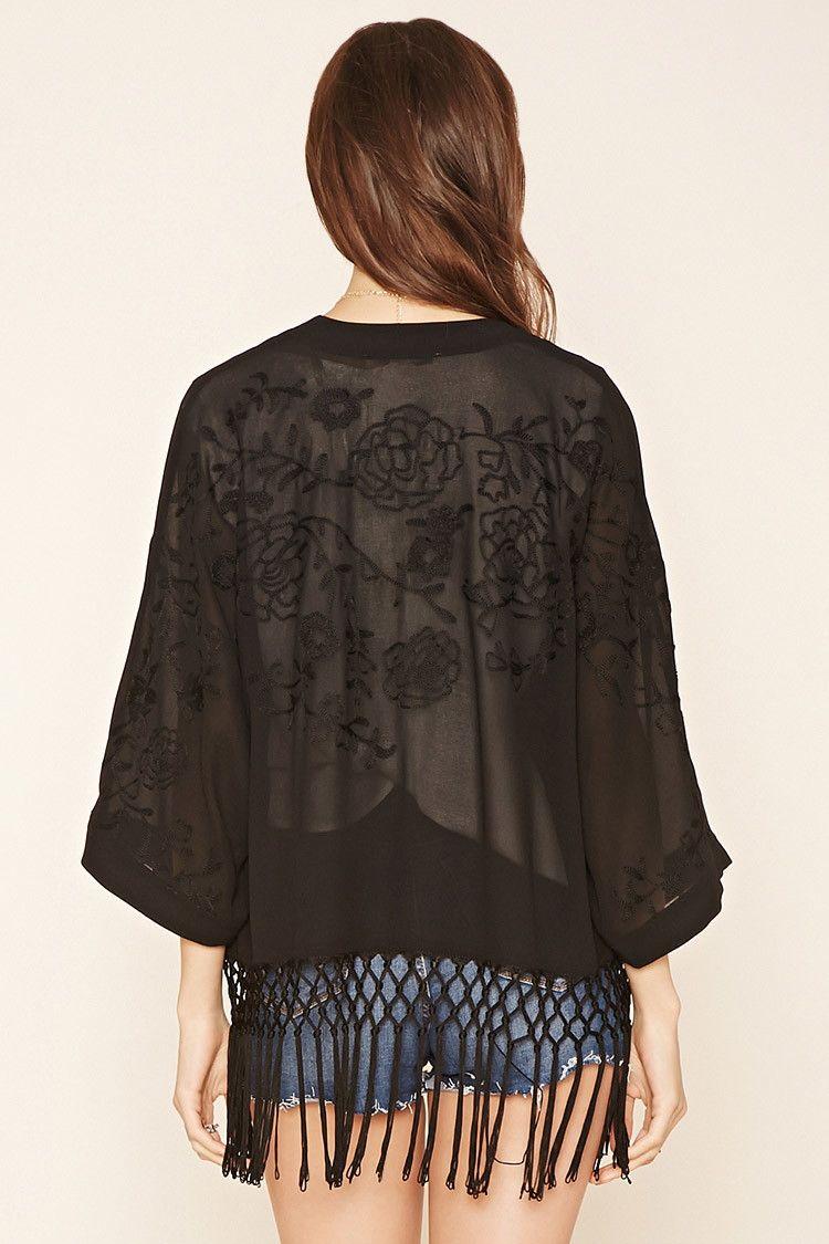 Contemporary Fringe Kimono Fringe kimono, Latest trends