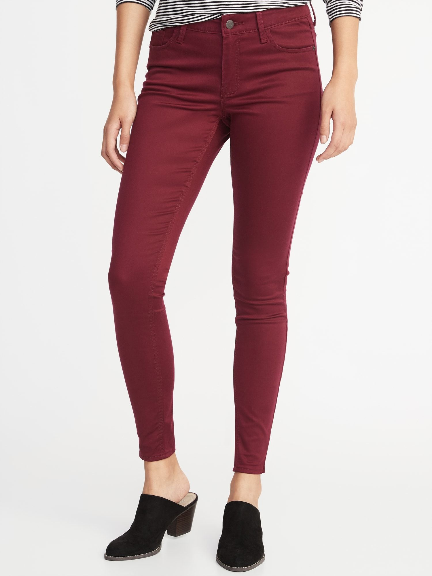 dbbc55dd88 Mid-Rise Sateen Rockstar Super Skinny Jeans for Women | want ...