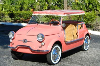 1959 Fiat Jolly 500 Convertible With Images Fiat Beach Cars