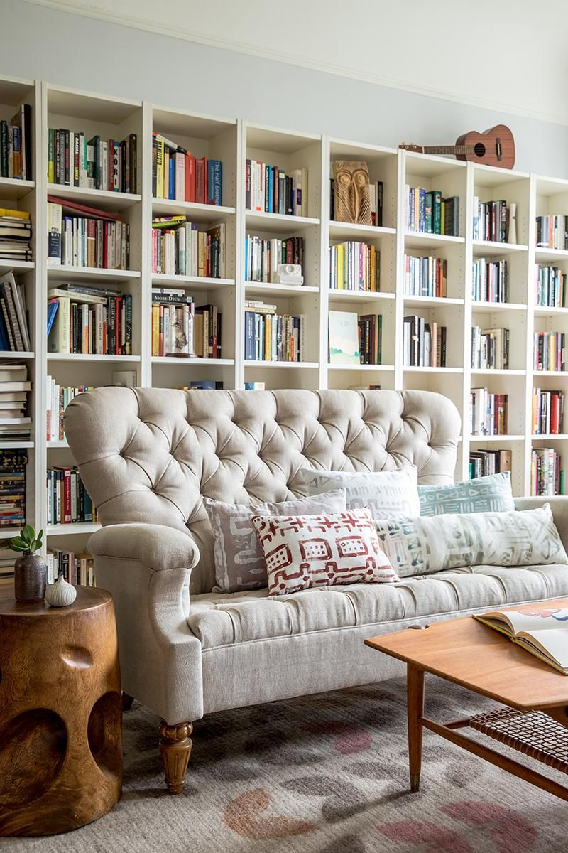 Make a bookshelf the focal point of the room Absoluely