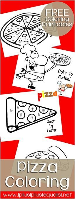 Pizza Coloring Printables from www.1plus1plus1equals1.net