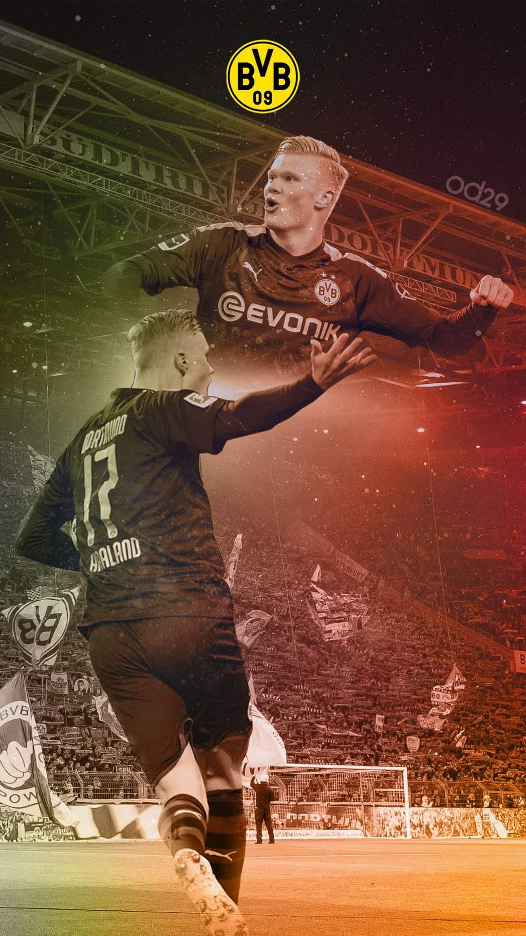 Haaland Bvb Dortmund Wallpaper In 2020 Bvb Dortmund Borussia Dortmund Wallpaper Bvb
