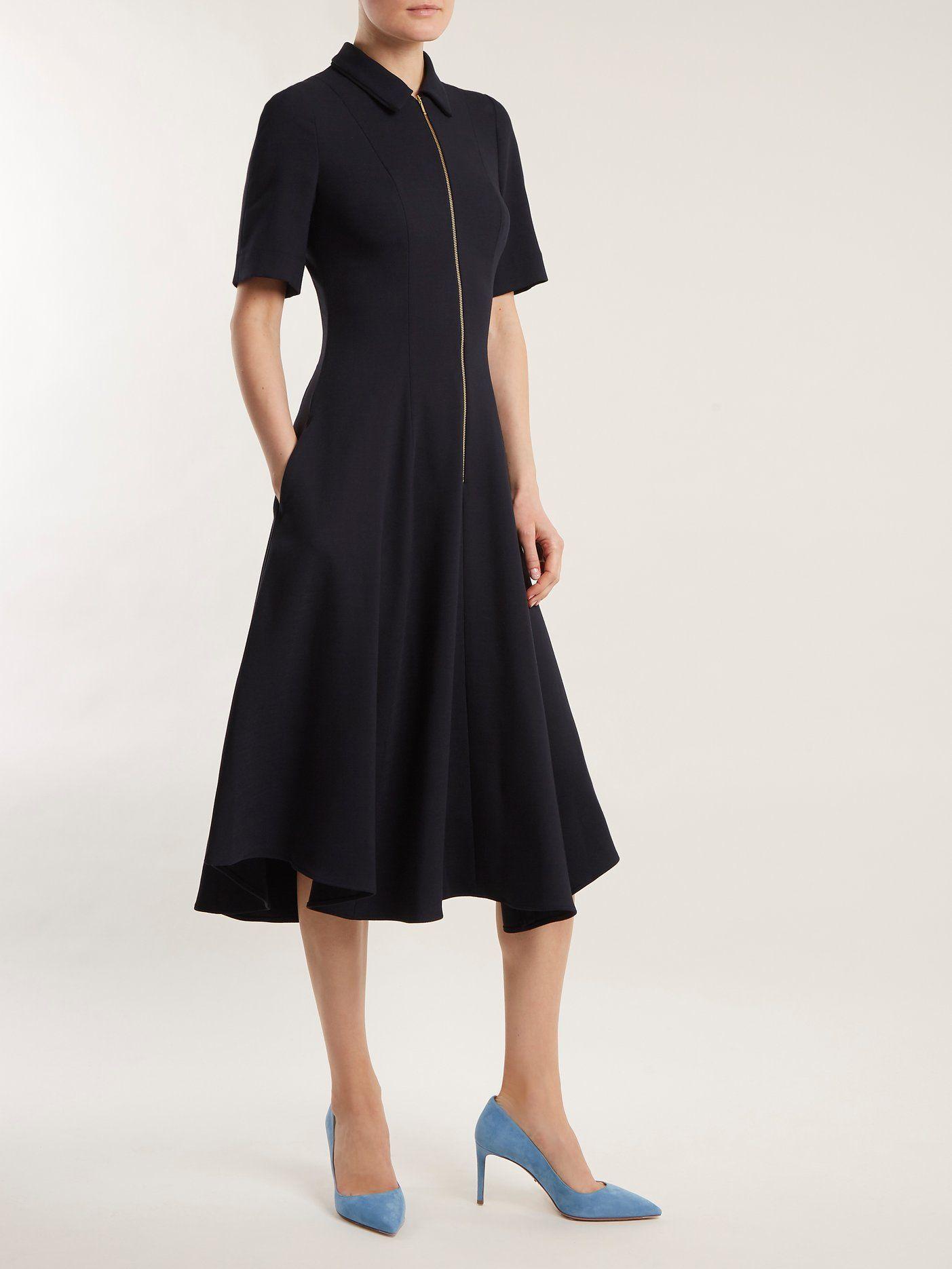 e048f9d0248f68 Point-collar zip-up jersey dress | Cefinn | MATCHESFASHION.COM US ...