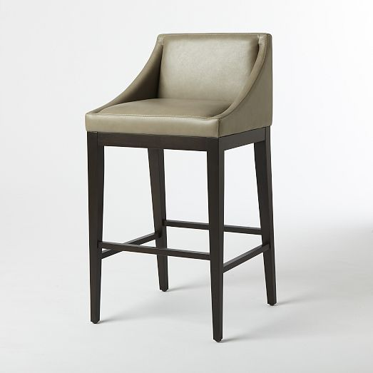 Curved Leather Bar Counter Stool Elephant West Elm Living