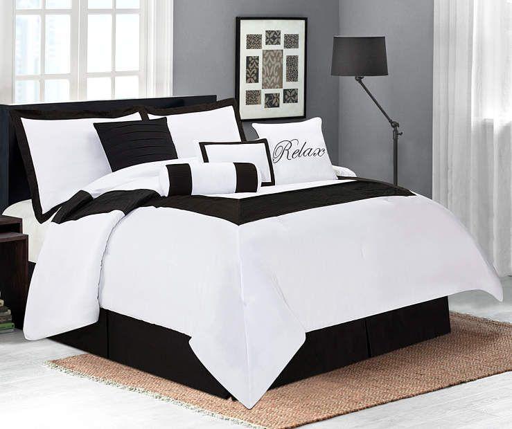 Best I Found A Aprima Hotel Black 8 Piece Comforter Sets At Big 640 x 480