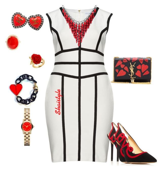 """""""Valentine's Day"""" by shaistyle ❤ liked on Polyvore featuring Gina Bacconi, Chanel, Marc by Marc Jacobs, Charlotte Olympia, Yves Saint Laurent, Alexa Starr and Disney"""