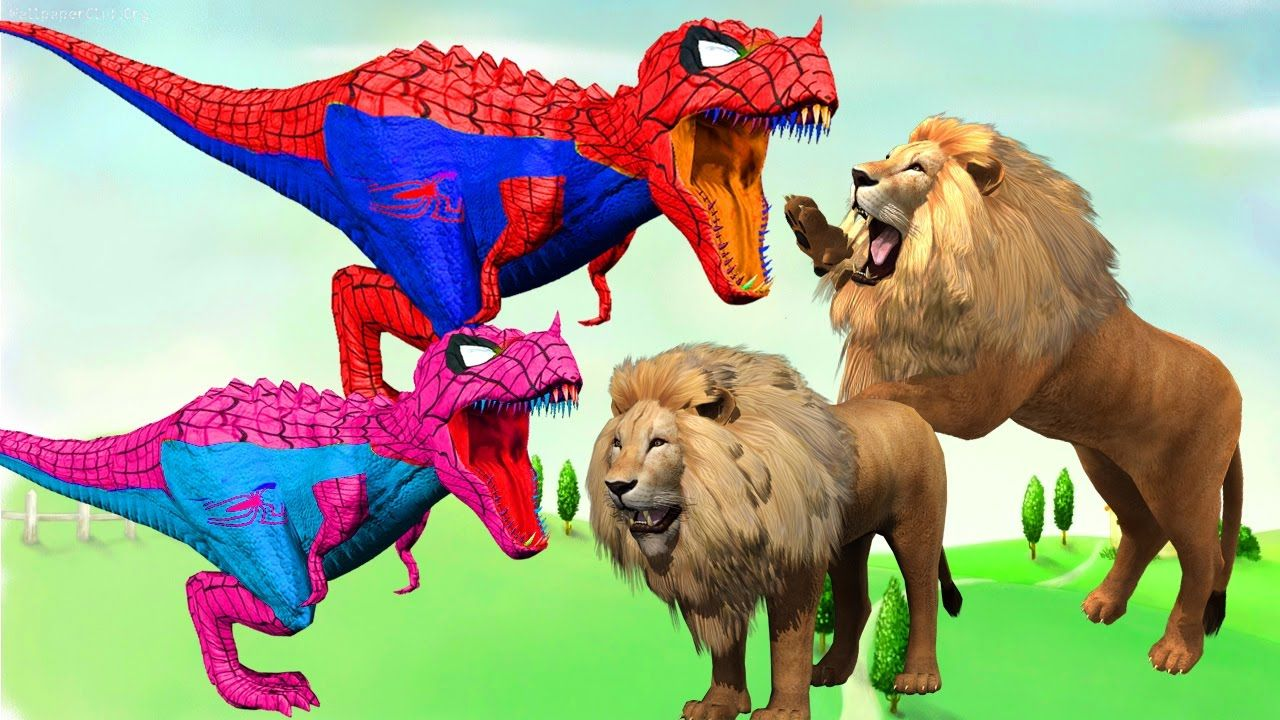 Funny Animal Compilation Dinosaurs Vs Lion Real Fight