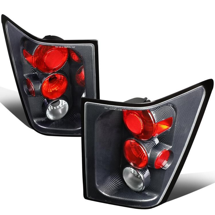 D Motoring 05 06 Jeep Grand Cherokee Tail Lights Carbon Fiber Housing Clear Lens Clear Reflector Plug N Play Jeep Grand Cherokee Tail Light Lights
