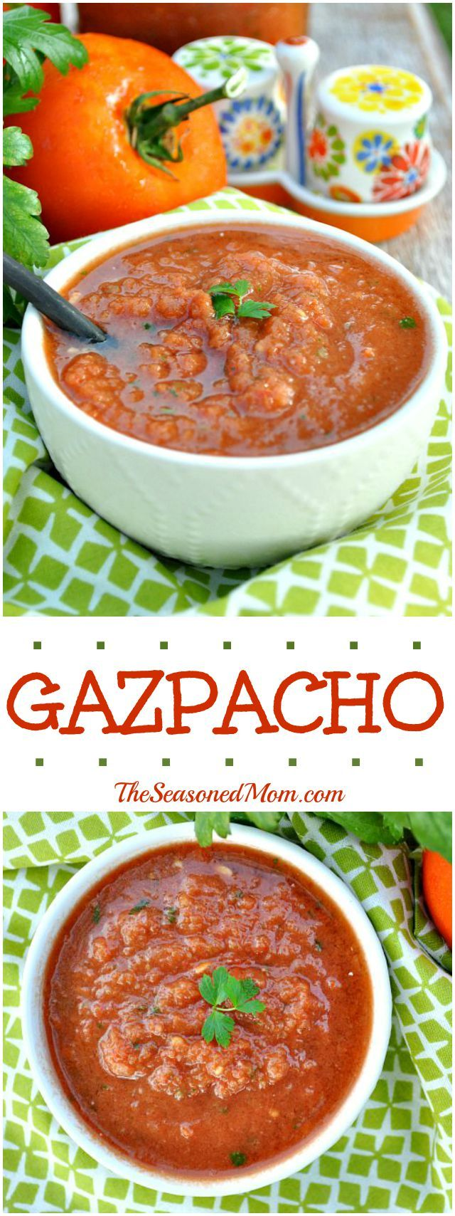 This fresh and healthy Gazpacho is a delicious clean eating soup that's ready in minutes. Toss everything into the blender and puree!