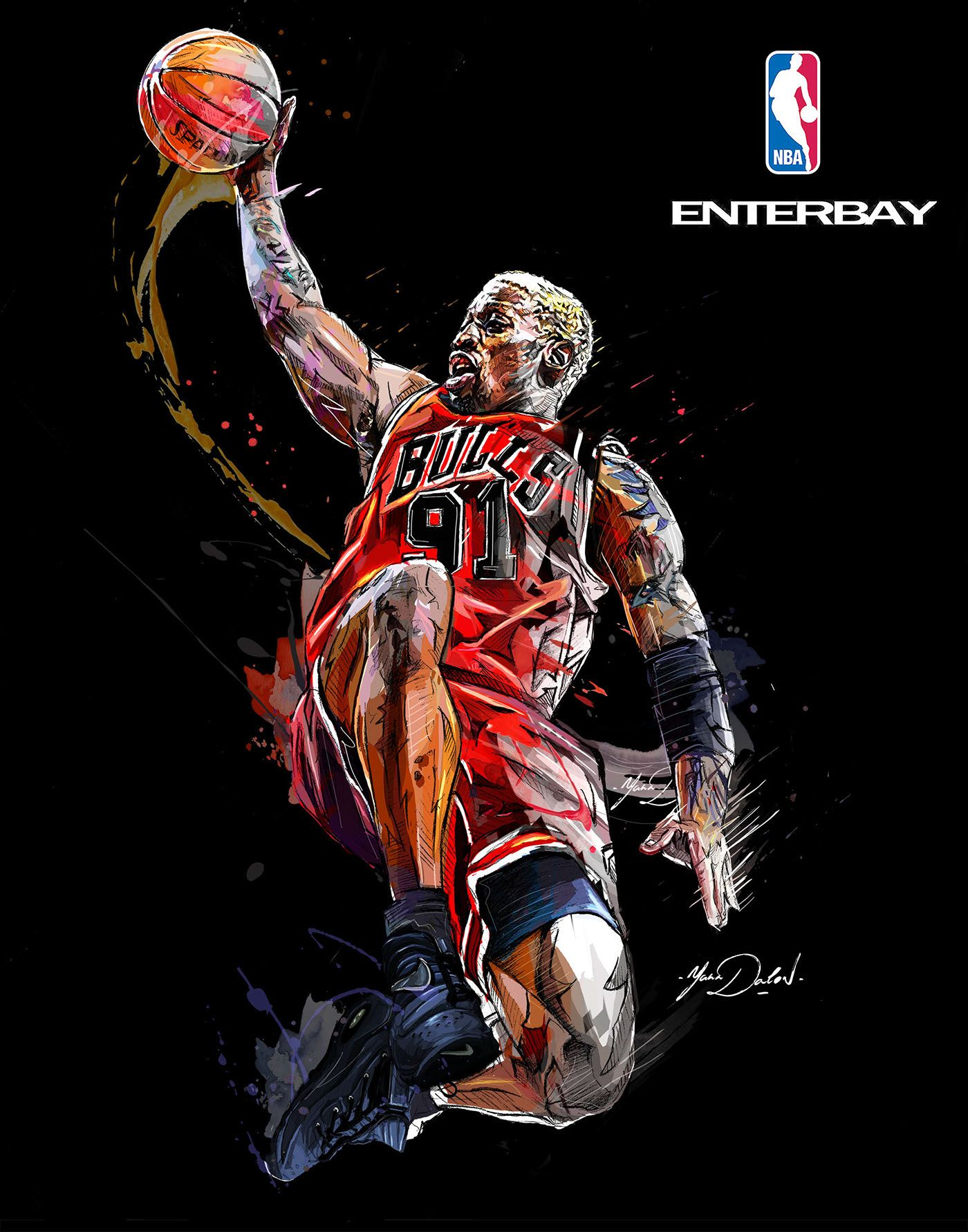 99e50bd7ea44 My collaboration with the brand ENTERBAY and the NBA . Three paintings of the  famous Michael Jordan