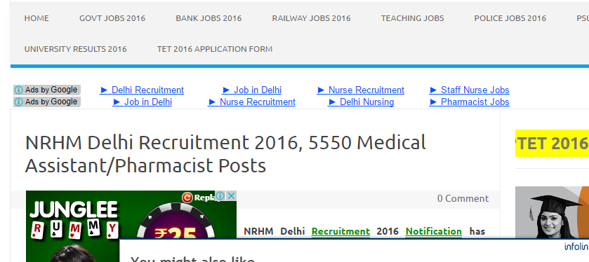 Nrhm Delhi Recruitment  Notification Nrhm Delhi Vacancy